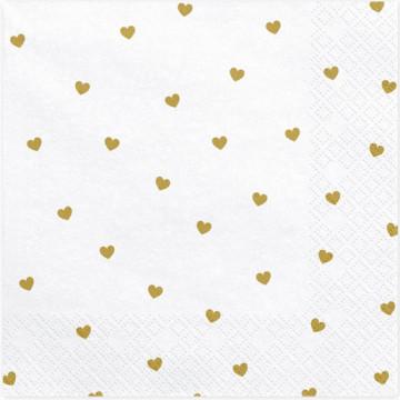 Serwetki papierowe w serca...