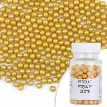Perełki miękkie - złote, 30 g