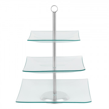 Patera szklana 3-poziomowa...